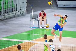 Mitja Gasparini of Slovenia during friendly volleyball match between National Men teams of Slovenia and Netherlands, on December 30, 2019, in Arena Stozice, Ljubljana, Slovenia. Photo by Sinisa Kanizaj / Sportida