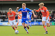 Callum Camps during the Sky Bet League 1 match between Rochdale and Blackpool at Spotland, Rochdale, England on 16 April 2016. Photo by Daniel Youngs.