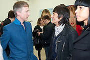 JEFFERSON HACK;RONNIE WOOD, Richard Phillips, Most Wanted. Private view at White Cube. Hoxton Sq. London. 27 January 2011, -DO NOT ARCHIVE-© Copyright Photograph by Dafydd Jones. 248 Clapham Rd. London SW9 0PZ. Tel 0207 820 0771. www.dafjones.com.