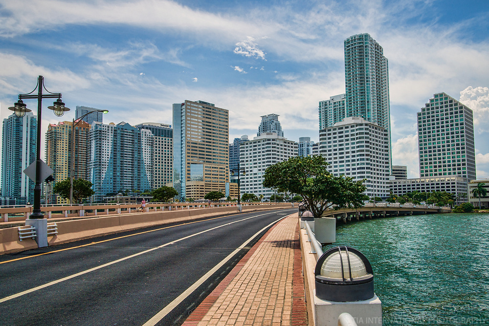 Brickell Key Drive & Brickell Skyline