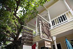 Bay Island Originals store on the main drag of Utila town.