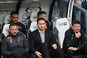 Derby County Manager Frank Lampard (centre) during the EFL Sky Bet Championship match between Derby County and Leeds United at the Pride Park, Derby, England on 11 May 2019.