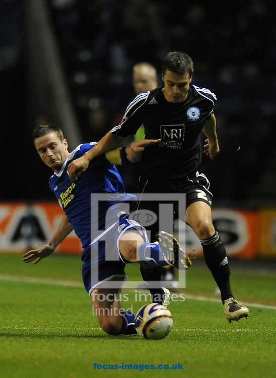 Leicester - Saturday December 22th, 2008: Matt Oakley of Leicester City and Russel Martin of Peterborough United during the Coca Cola League One match at The Walkers Stadium, Leciester. (Pic by Alex Broadway/Focus Images)