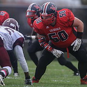 William Penn defensive tackle Timothy Dooley (50) playing in a regular season football game between William Penn and Concord Saturday, Oct. 24, 2015 at  William Penn High School in New Castle.