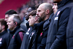 Rotherham United manager Paul Warne stands with players during a minute silence - Mandatory by-line: Ryan Crockett/JMP - 18/11/2017 - FOOTBALL - Aesseal New York Stadium - Rotherham, England - Rotherham United v Shrewsbury Town - Sky Bet League One