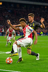 10-04-2019 NED: Champions League AFC Ajax - Juventus,  Amsterdam<br /> Round of 8, 1st leg / Ajax plays the first match 1-1 against Juventus during the UEFA Champions League first leg quarter-final football match / David Neres #7 of Ajax, Daniele Rugani #24 of Juventus