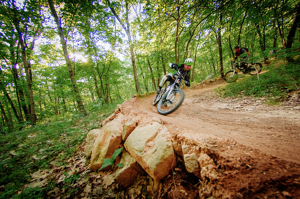 Eammon mountain biking at Vietnam in Milford, Massachusetts