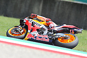 #93 Marc Marquez, Spanish: Repsol Honda Team during Friday Practice at the MotoGP Gran Premio d'Italia Oakley at Autodromo del Mugello Circuit, Senni-San Carlo, Italy on 1 June 2018. Picture by Graham Holt.