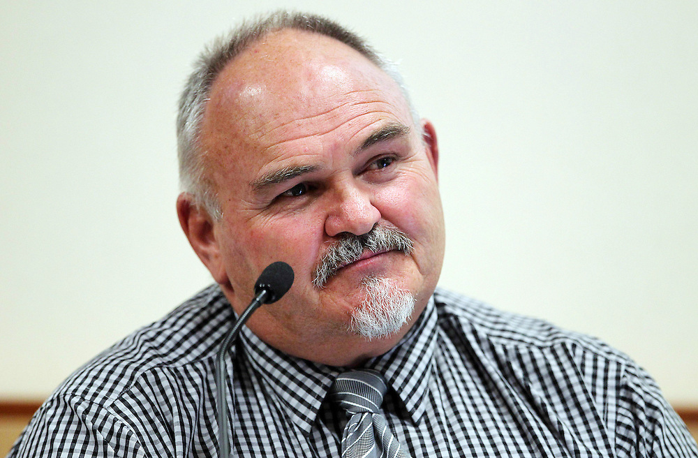 Kevin Poynter, former Health and Safety Inspector, Department of Labour at the Pike River Royal Commission Hearings at District Court, Greymouth, New Zealand, Tuesday, November 15, 2011. Credit:SNPA / The Press, Iain McGregor  **POOL**