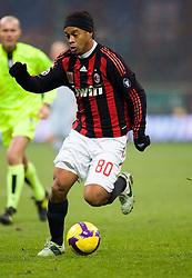 Ronaldinho in action, Milan v Lazio, 3-12-2008