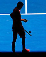 GRIGOR DIMITROV (BUL),Silhouette,Schatte, von oben<br /> <br /> Tennis - Australian Open 2018 - Grand Slam / ATP / WTA -  Melbourne  Park - Melbourne - Victoria - Australia  - 19 January 2018.