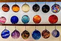 Handblown glass, Garden City Glass at Jewell Gardens, Skagway, Alaska USA.