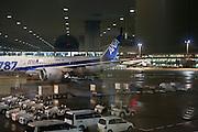 Narita airport  during night Tokyo Japan