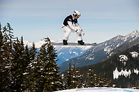 LG SNOWBOARD FIS WORLD CUP, CYPRESS MOUNTAIN, VANCOUVER, BRITISH COLUMBIA, CANADA - Men;s Snowboard cross, Jason Smith (USA): Photo by Peter Llewellyn