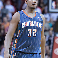 19 November 2010: Charlotte Bobcats' power forward #32 Boris Diaw looks dejected during the Miami Heat 95-87 victory over the Charlotte Bobcats at the AmericanAirlines Arena, Miami, Florida, USA.