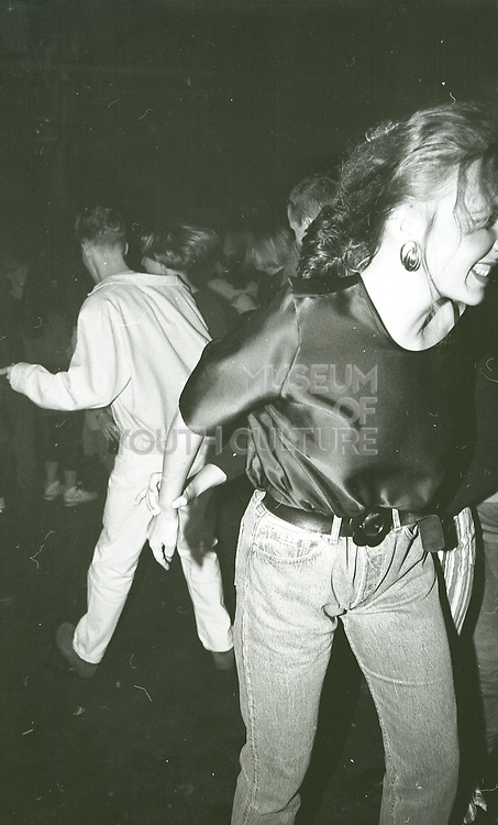 Two Friends Dancing, The Boardwalk, Manchester, 1991.