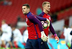 Tom Heaton of England and Joe Hart of England warm up - Mandatory by-line: Robbie Stephenson/JMP - 15/11/2016 - FOOTBALL - Wembley Stadium - London, United Kingdom - England v Spain - International Friendly