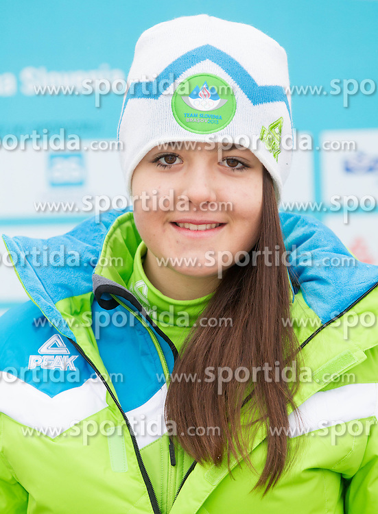 Mia Cebulj during presentation of Team Slovenia for European Youth Olympic Festival - EYOF Brasov 2013 on February 13, 2013 in Bled, Slovenia. (Photo By Vid Ponikvar / Sportida)