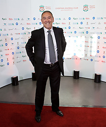 LIVERPOOL, ENGLAND - Tuesday, May 19, 2015: Former Liverpool youth coach Hugh McAuley arrives on the red carpet for the Liverpool FC Players' Awards Dinner 2015 at the Liverpool Arena. (Pic by David Rawcliffe/Propaganda)