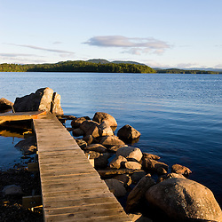 The dock at Umbagog Lake State Park, Cambridge, New Hampshire.
