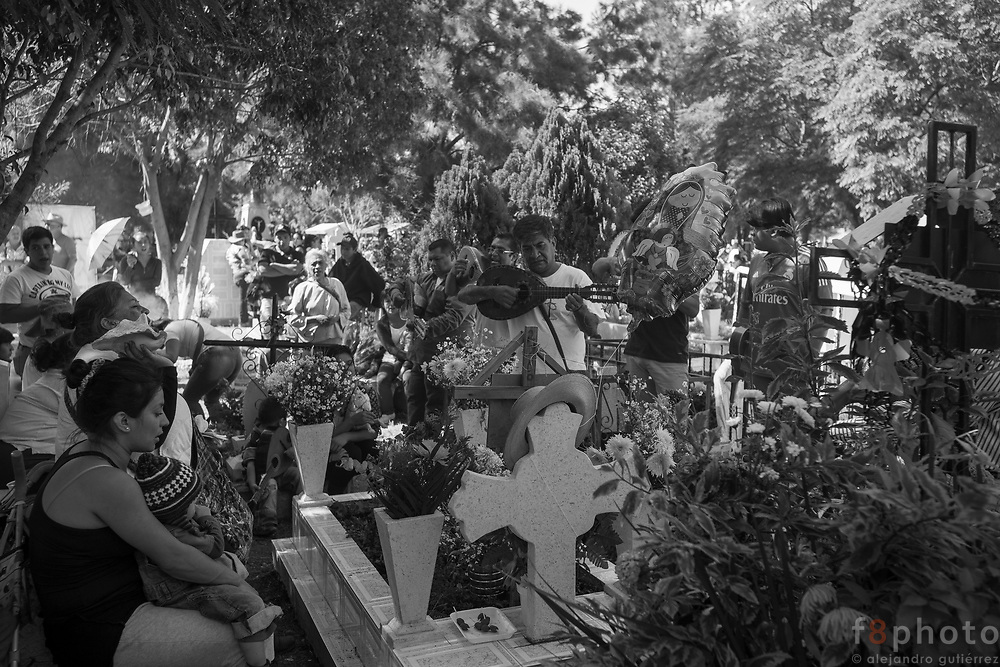 Día de Muertos (Day of the dead) is one of the most important traditions in México. On November 1st and 2nd families and friends venerate their deceased. There are many activities like give maintenance to the tomb, bring a serenade with live music and at the end of the day is common to organize a picnic using the tomb as a table. This could be seen as disrespectful, but is a way that the deceased is part of this celebration. Commonly the favorites food dishes of the deceased are prepared for this occasion.