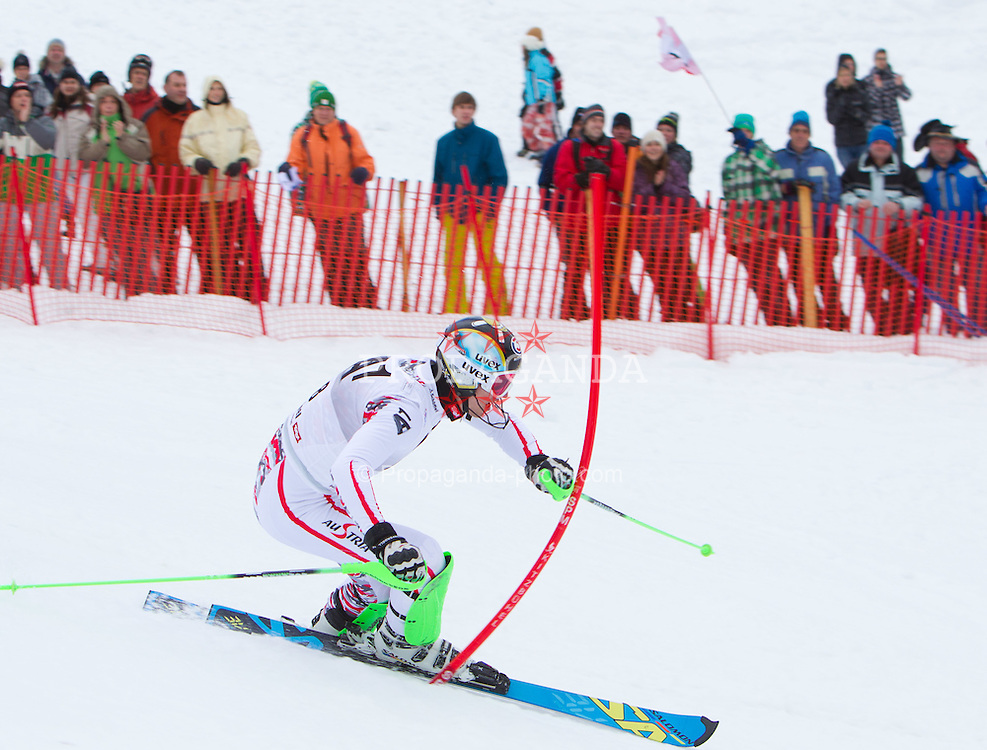 22.01.2012, Ganslernhang, Kitzbuehel, AUT, FIS Weltcup Ski Alpin, 72. Hahnenkammrennen, Herren, Slalom 1. Durchgang, im Bild Jimmy Cochran (USA) // Jimmy Cochran of USA during Slalom race 1st run of 72th Hahnenkammrace of FIS Ski Alpine World Cup at 'Ganslernhang' course in Kitzbuhel, Austria on 2012/01/22. EXPA Pictures © 2012, PhotoCredit: EXPA/ Johann Groder