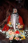 Sri Lanka..Ganesh at base of a tree just north of Batiicaloa town.