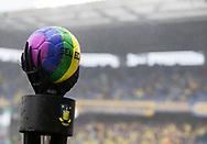 Copenhagen Pride kampbold før kampen i 3F Superligaen mellem Brøndby IF og AaB den 18. august 2019 på Brøndby Stadion (Foto: Claus Birch).