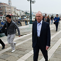 VENICE, ITALY April 8th: Francois Pinault leaves the  Exhibition In Praise of Doubt at Punta della Dogana  organised by the Francois Pinault Foundation ...HOW TO BUY THIS PICTURE: please contact us via e-mail at sales@xianpix.com or call our offices in Milan at (+39) 02 400 47313 or London   +44 (0)207 1939846 for prices and terms of copyright.