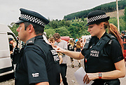 Police officers, Halfway Quarry Brecon Wales, May 2017