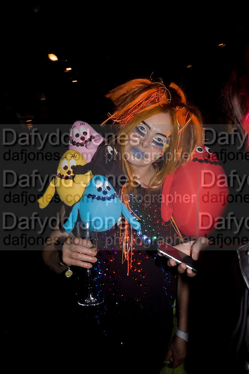 LOUISE MAZZILLI, Patti and Andy Wong  host a night of Surrealism to Celebrate the Chinese Year of the Rat. County Hall Gallery and Dali Universe. London. 27 January 2008. -DO NOT ARCHIVE-© Copyright Photograph by Dafydd Jones. 248 Clapham Rd. London SW9 0PZ. Tel 0207 820 0771. www.dafjones.com.