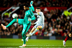 Sergio Romero of Manchester United handballs and is shown a red card and sent off - Mandatory by-line: Robbie Stephenson/JMP - 25/09/2018 - FOOTBALL - Old Trafford - Manchester, England - Manchester United v Derby County - Carabao Cup
