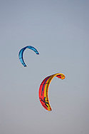 Kite Surfers enjoy unusually warm weather at Gilgo Beach New York , Saturday, January 06, 2006