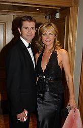 MR GRANT BOVEY and TV presenter ANTHEA TURNER at The Caron Keating Foundation Dinner in honour of the late TV presenter who died in April 2004, held at The Savoy, London on 4th October 2004.<br />