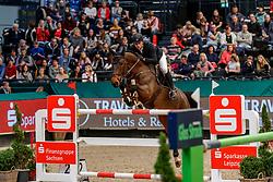 WOLF Cedric (GER), Fitch<br /> Leipzig - Partner Pferd 2020<br /> Championat von Leipzig<br /> Springprfg. mit Stechen, international<br /> Höhe: 1.50 m<br /> 18. Januar 2020<br /> © www.sportfotos-lafrentz.de/Stefan Lafrentz