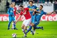 ALKMAAR - 08-12-2016, AZ - FC Zenit, AFAS Stadion, AZ speler Ben Rienstra, FC Zenit speler Giuliano