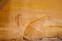 Anthropomorphs, Barrier Canyon style pictograph panel; Buckhorn Wash, San Rafael Swell, UT