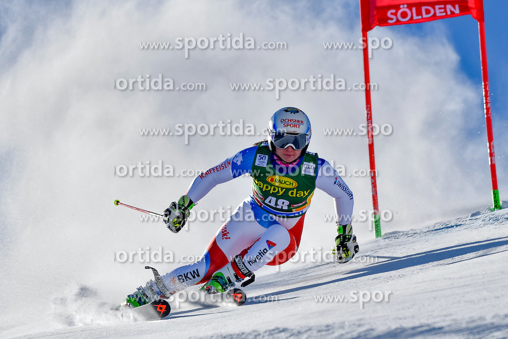 22.10.2016, Rettenbachferner, Soelden, AUT, FIS Weltcup Ski Alpin, Soelden, Riesenslalom, Damen, 1. Durchgang, im Bild Jasmina Suter (SUI) // Jasmina Suter of Switzerland in action during 1st run of ladies Giant Slalom of the FIS Ski Alpine Worldcup opening at the Rettenbachferner in Soelden, Austria on 2016/10/22. EXPA Pictures &copy; 2016, PhotoCredit: EXPA/ Nisse Schmid<br /> <br /> *****ATTENTION - OUT of SWE*****