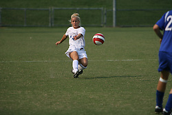 Virginia Cavaliers D Amanda Stewart (14)..The Virginia Cavaliers Women's Soccer Team fell to Seton Hall University 1-0 on September 10, 2006 at Klöckner Stadium in Charlottesville, VA...