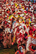 Dancers at Schemitzun Powwow in North Stonington, Connecticut, on the Mashantucket Pequot reservation in 1996.