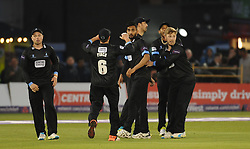 Sussex celebrate a wicket.  - Mandatory by-line: Alex Davidson/JMP - 01/06/2016 - CRICKET - The 1st Central County Ground - Hove, United Kingdom - Sussex v Somerset - NatWest T20 Blast