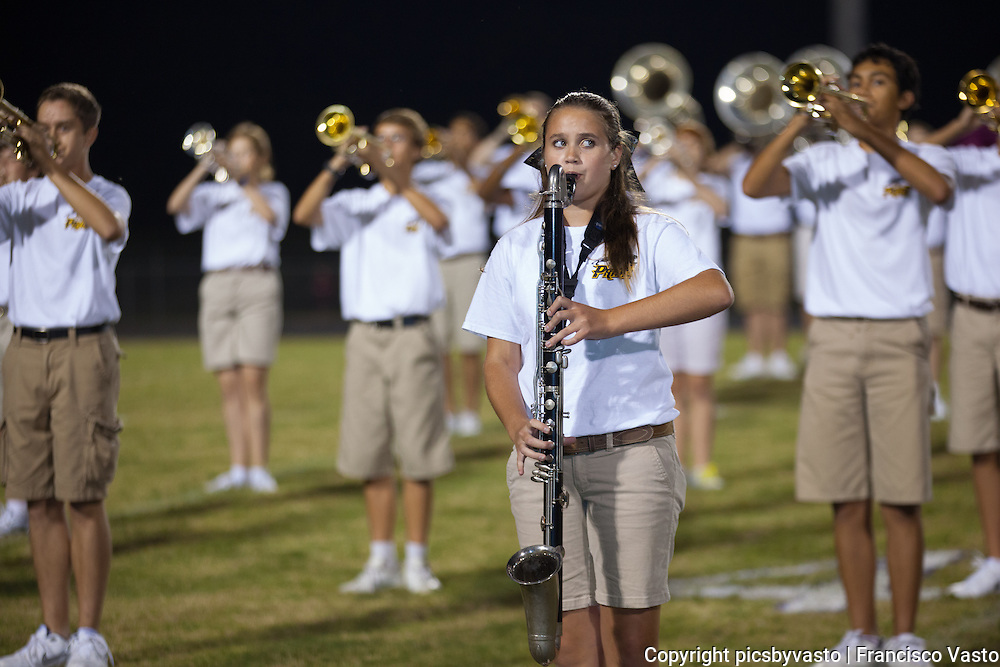 Providence High School Marching Band prepares and performs for the Providence High School vs Porter Ridge High School Friday night football game.
