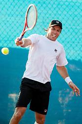 Carlos Berlocq (ARG) during a tennis match against the Josko Topic (CRO) in 1st round of singles at 24 ATP Vegeta Croatia Umag 2013, on July 23, 2013, in Umag, Croatia. (Photo by Urban Urbanc / Sportida)