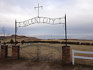 Cemetery in rural North Dakota (iPhone 4S photograph). It's a nice place to visit but I wouldn't want to live there.