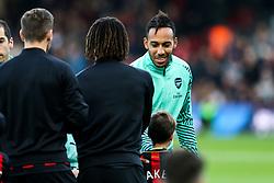 Pierre-Emerick Aubameyang of Arsenal greets Nathan Ake of Bournemouth - Rogan/JMP - 25/11/2018 - FOOTBALL - Vitality Stadium - Bournemouth, England - Bournemouth v Arsenal - Premier League.