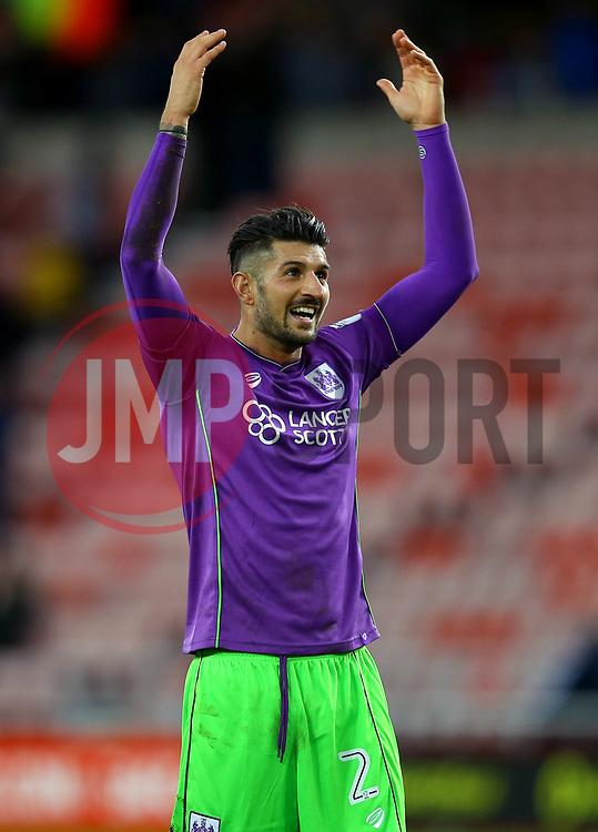 Eros Pisano of Bristol City celebrates the win over Sunderland - Mandatory by-line: Robbie Stephenson/JMP - 28/10/2017 - FOOTBALL - Stadium of Light - Sunderland, England - Sunderland v Bristol City - Sky Bet Championship