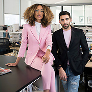 December 14, 2016 - New York, NY : From left, Elaine Welteroth, Editor-in-Chief of Teen Vogue, and Phillip Picardi, Digital Editorial Director at Teen Vogue, pose for a portrait in Condé Nast's Teen Vogue offices in One World Trade in Manhattan on Wednesday afternoon. CREDIT: Karsten Moran for The New York Times