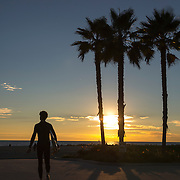 Surfer, Venice, California.