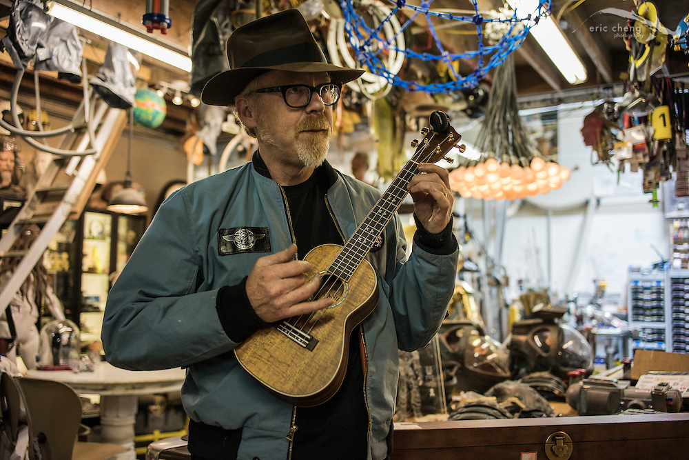 Adam Savage is learning to play the banjo
