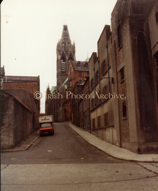 Old Dublin Amature Photos July 1983 WITH, Quays, McGowan BROS ltd, Christ Church, Arran Quay, Chambers, Nordmende, Falling Down Buildings,